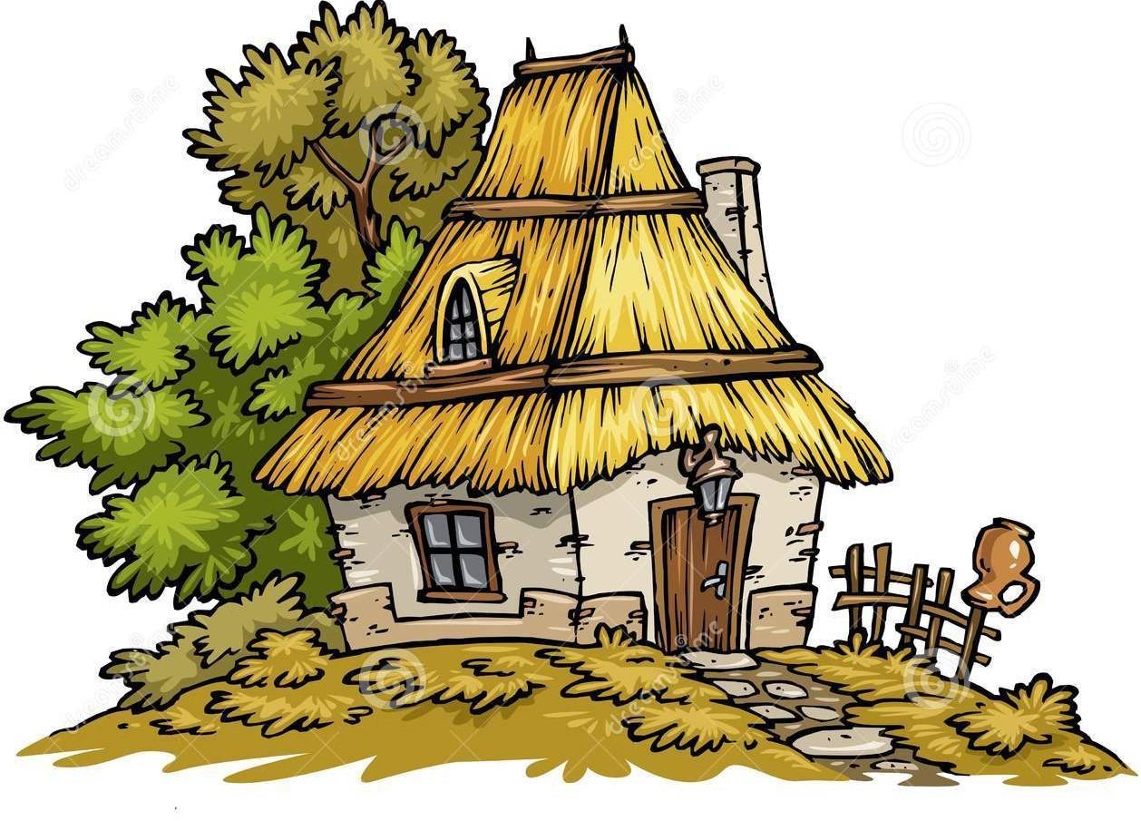 Vieil clip art de maison 8996436